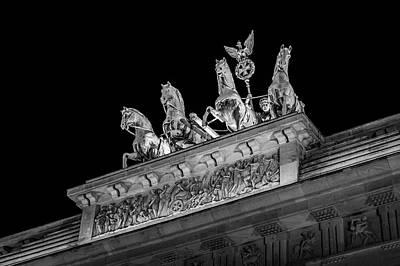 Berlin At Night - Quadriga - Brandenburg Gate - Brandenburger Tor Poster