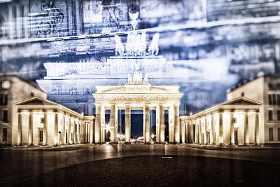 Berlin Brandenburg Gate In Detail Poster by Melanie Viola
