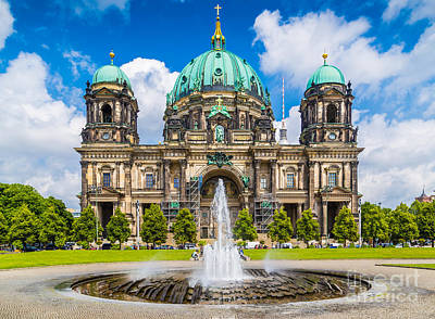 Berlin Cathedral Poster by JR Photography