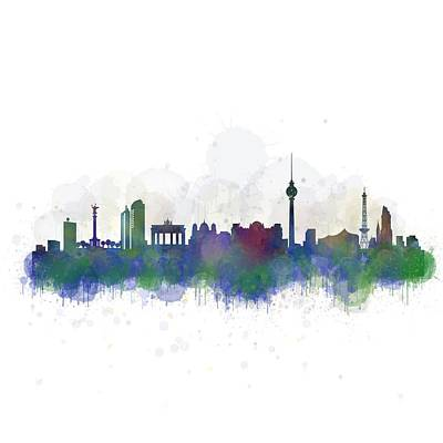 Berlin City Skyline Hq 2 Poster by HQ Photo