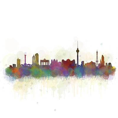 Berlin City Skyline Hq 5 Poster by HQ Photo