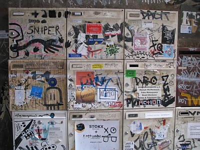 Poster featuring the photograph Berlin  Mailboxes by Erik Falkensteen