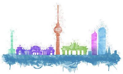 Berlin Skyline Poster by Solomon Barroa
