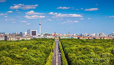 Berlin Skyline With Tiergarten Park Poster by JR Photography