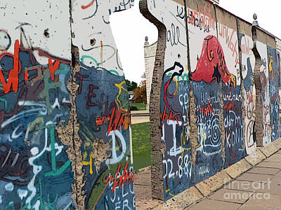 Berlin Wall Section At Westminster College Poster by David Bearden