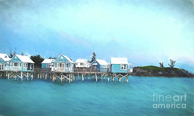 Bermuda Coastal Cabins Poster by Luther Fine Art