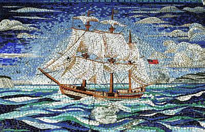 Bermuda Schooner Mosaic Poster by Sandy Taylor