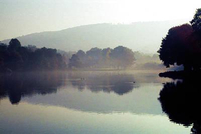 Bernharts Dam Fog 020 Poster by Scott McAllister