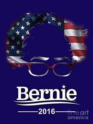 Bernie Sanders 2016 Poster by Marvin Blaine
