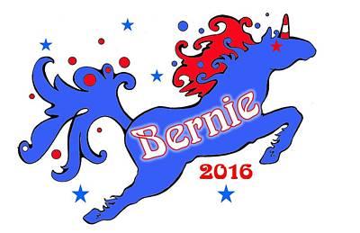 Bernie's Unicorn 2016 Poster