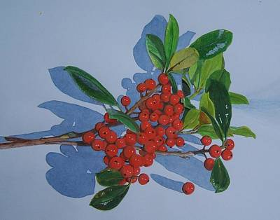 Poster featuring the mixed media Berries by Constance Drescher