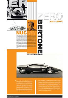 Bertone Poster Poster by Naxart Studio