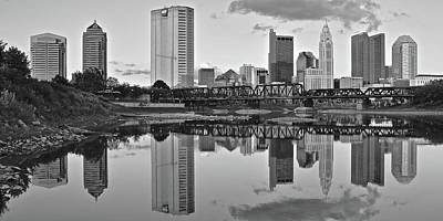 Poster featuring the photograph Best Columbus Black And White by Frozen in Time Fine Art Photography