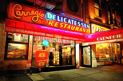 Best Deli In Nyc Poster by Anthony Caruso
