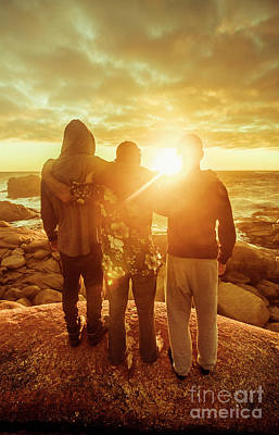 Poster featuring the photograph Best Friends Greeting The Sun by Jorgo Photography - Wall Art Gallery