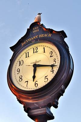 Bethany Beach Clock Tower Poster by Kim Bemis