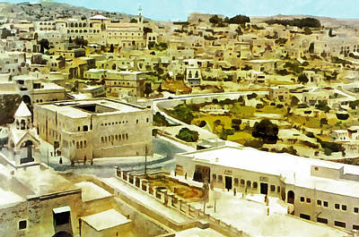 Bethlehem In 1960 Poster by Munir Alawi