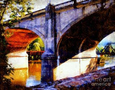 Poster featuring the photograph Bethlehem Pa Bridge - Tunnel Vision by Janine Riley