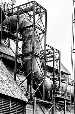 Bethlehem Steel - Black And White Industrial Poster by Bill Cannon