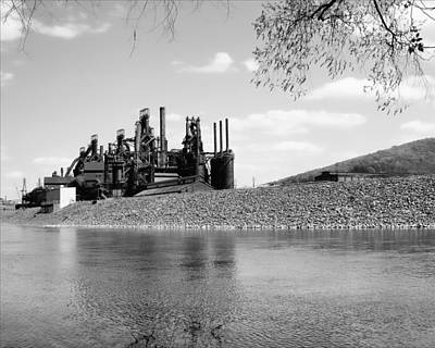 Poster featuring the photograph Bethlehem Steel by Michael Dorn