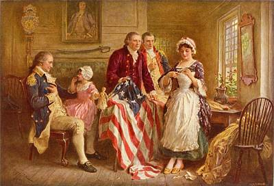 Betsy Ross 1777 Poster by Jean Leon Gerome Ferris