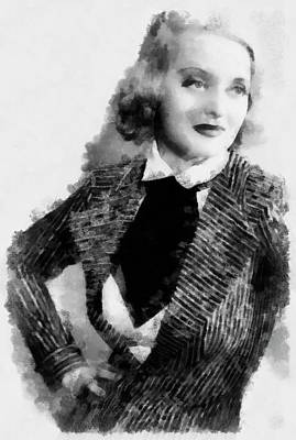 Bette Davis Actress Poster by Esoterica Art Agency