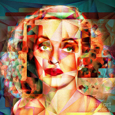 Bette Davis What Ever Happened To Baby Jane 20170418 Square Poster by Wingsdomain Art and Photography