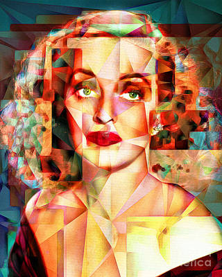 Poster featuring the photograph Bette Davis What Ever Happened To Baby Jane 20170418 by Wingsdomain Art and Photography