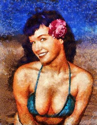 Bettie Page Pinup Star Poster