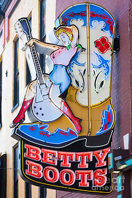 Betty Boots Sign I Poster