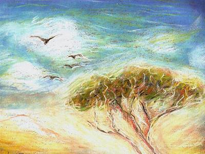 Poster featuring the drawing Betty's Tree by Denise Fulmer