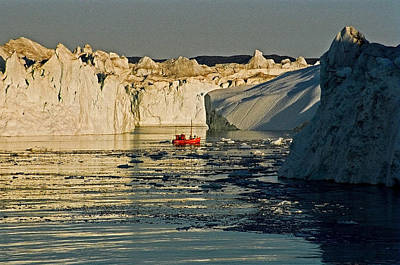 Between Icebergs - Greenland Poster by Juergen Weiss