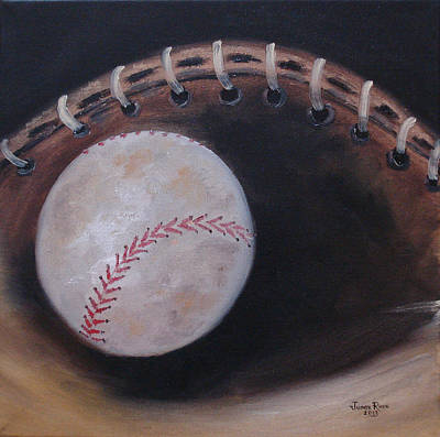 Poster featuring the painting Between Innings by Judith Rhue