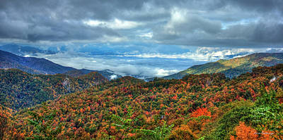 Between The Clouds Blue Ridge Parkway North Carolina Art Poster by Reid Callaway