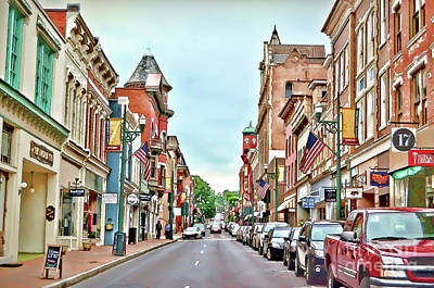 Poster featuring the photograph Beverley Historic District - Staunton Virginia - Art Of The Small Town by Kerri Farley