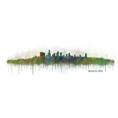 Beverly Hills City In La City Skyline Hq V3 Poster by HQ Photo