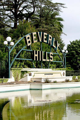 Beverly Hills Reflection Poster by Art Block Collections