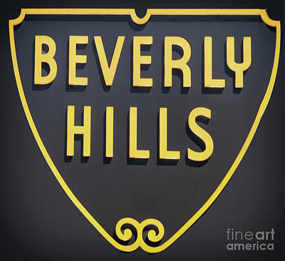 Beverly Hills Sign Poster by Mindy Sommers