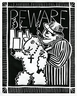 Beware Poster by Sheryl Karas