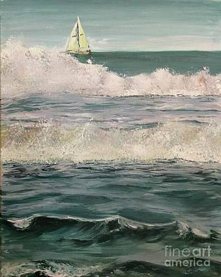 Poster featuring the painting Beyond The Breakers by Lisa DuBois