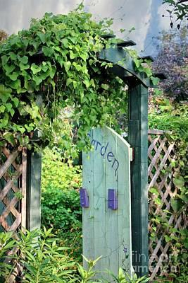 Beyond The Garden Gate Door Poster by Ella Kaye Dickey