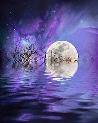 Beyond The Nebula Poster by Sharon Lisa Clarke