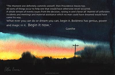 Begin It Now Poster by Arthur Barnes