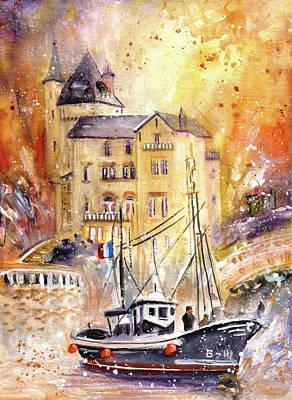 Biarritz Authentic Poster by Miki De Goodaboom