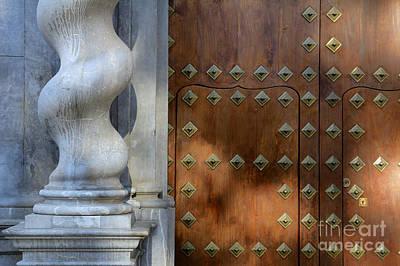 Bibataubin Palace Door In Granada Spain Poster by