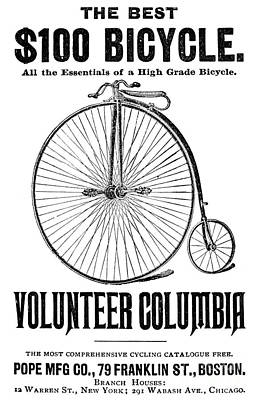 Bicycle Advertisement, 1888 Poster by Granger