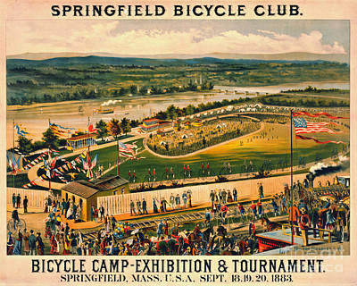 Poster featuring the photograph Bicycle Camp 1883 by Padre Art