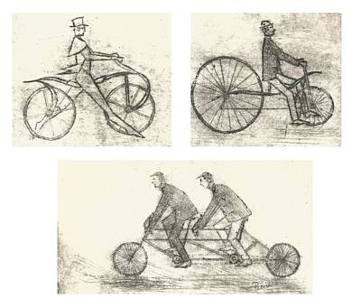 Bicycle Engravings Poster