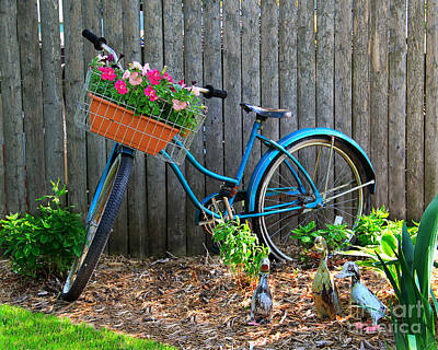 Bicycle Garden Poster by Perry Webster