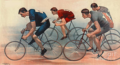 Poster featuring the photograph Bicycle Lithos Ad 1896nt by Padre Art